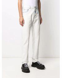 Alexander McQueen Acid Wash Straight Leg Jeans - White