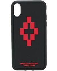 Marcelo Burlon Cover 3D Cross per iPhone XS - Nero