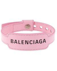 Balenciaga Cash Bracelet In Pink