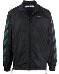 Off-White c/o Virgil Abloh Diagonals Nylon Jacket - Black