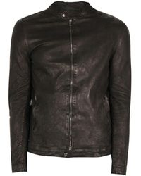 Salvatore Santoro Black Leather Biker Jacket