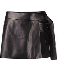 DROMe Side Slit Mini Skirt - Black