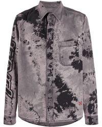 Off-White c/o Virgil Abloh - Camicia in denim tie dye - Lyst