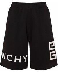 Givenchy 4g Logo Embroidered Track Shorts - Black