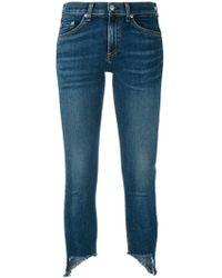 Rag & Bone - Jeans Con Orlo Asimmetrico - Lyst