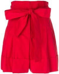 Alexander McQueen - High-waisted Tie Shorts - Lyst