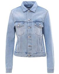 Off-White c/o Virgil Abloh Flower Arrows Blue Jacket
