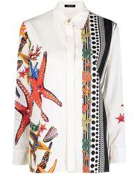 Versace Starfish-print Buttoned Shirt - White