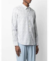Paul Smith Floral-print Long-sleeve Shirt - White