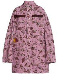 The Attico All-over Print Jacket - Purple