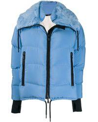 3 MONCLER GRENOBLE Plaret Fur-trimmed Down Jacket - Blue