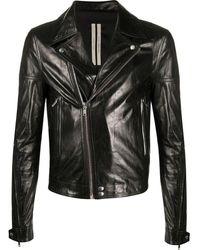 Rick Owens Dracubiker Jacket In Leather - Black