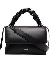 Moncler Black Dorotea Nappa Leather Handbag