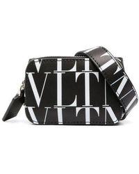 Valentino Garavani Vltn Times Mini Leather Belt Bag - Black