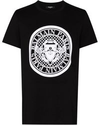 Balmain Coin Flock Jersey T-shirt - Black