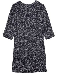 Equipment Aubrey Silk Shift Dress - Grey
