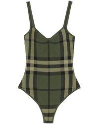 Burberry Check-print Bodysuit - Multicolour