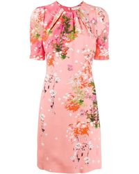 Givenchy Floral Print Dress - Pink