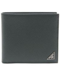 Prada Green Saffiano Leather Wallet