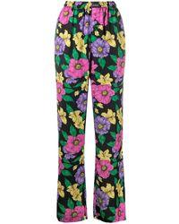 Balenciaga Lush Floral Print Track Trousers - Multicolour