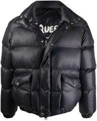 Alexander McQueen - Black Mcqueen Graffiti Puffer Jacket - Lyst