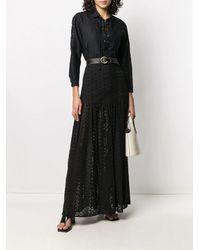 FEDERICA TOSI Broderie Anglaise Maxi Skirt - Black