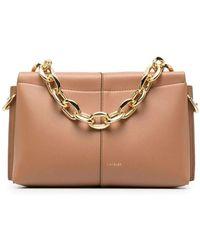 Wandler Amber Brown Carly Mini Heavy Chain Bag