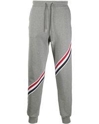 Thom Browne Rwb-stripe Gray Trackpants