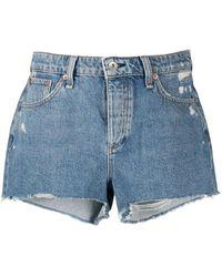 Rag & Bone Dre Low-rise Shorts - Blue