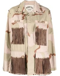 P.A.R.O.S.H. Beige Crush Military Jacket - Natural