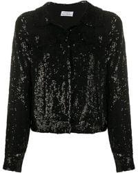 P.A.R.O.S.H. Full Sequins Jacket - Black