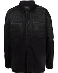 A_COLD_WALL* Giacca-camicia nera con effetto sbiadito - Nero