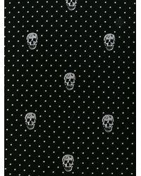Alexander McQueen Skull Print Tie - Black