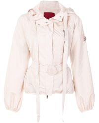 Moncler Gamme Rouge Belted Hooded Jacket - Multicolour