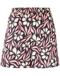 P.A.R.O.S.H. Pantaloncini a fiori rosa
