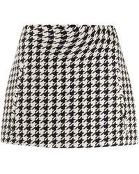 Off-White c/o Virgil Abloh Houndstooth Mini Skirt - Black