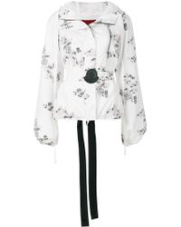Moncler Gamme Rouge Floral Patch Hooded Jacket - Multicolour