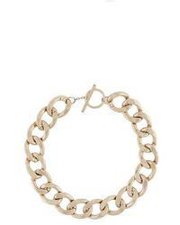 Saint Laurent Large Chain Necklace In Metal - Metallic