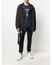 Balmain Black Nylon Windbreaker Jacket