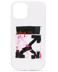 Off-White c/o Virgil Abloh Cover per iPhone 12 bianca con Arrows - Bianco