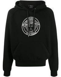 Versace Embroidered Medusa Hoodie - Black