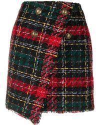 Balmain Tartan Skirt - Multicolour