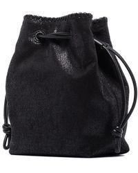 Stella McCartney Falabella Micro Bucket Tote Bag - Black