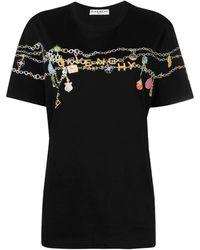 Givenchy T-shirt nera maschile charms - Nero