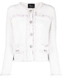 Blumarine Giacca bianca in tweed - Bianco