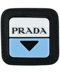 Prada Logo Patch Pin - Black