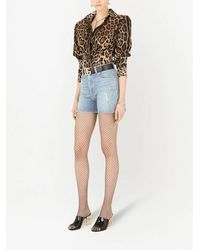 Dolce & Gabbana Leopard-print Structured Shirt - Brown