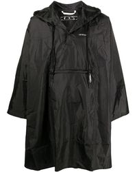 Off-White c/o Virgil Abloh Packable Raincoat - Black