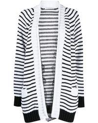 Philosophy Di Lorenzo Serafini Striped Knit Cardigan - White