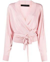 FEDERICA TOSI Tie-waist Wrap Cardigan - Pink